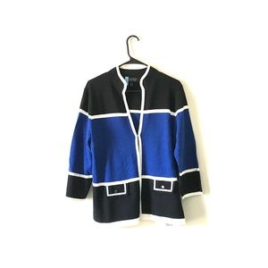 3 for 25 Kasper | Blue and Black Cardigan